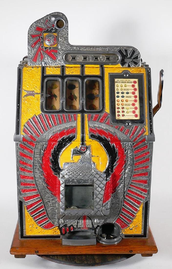 Vintage 1930s Mills War Eagle 5c Slot Machine