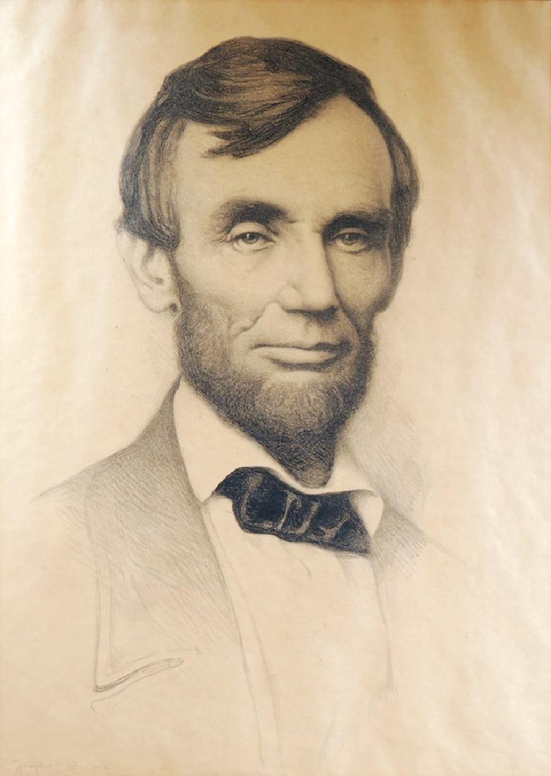 Joseph DeCamp Portrait of Abraham Lincoln Signed