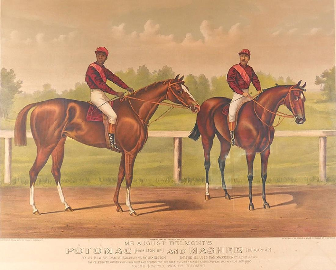 Currier & Ives Potomac and Masher Stone Lithograph