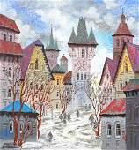 Anatole Krasnyansky Embellished Serigraph Canvas