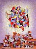 Anatole Krasnyansky Signed Serigraph on Canvas