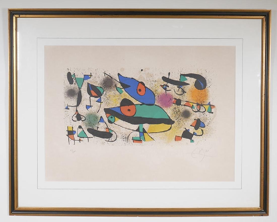 Joan Miro Lithograph Signed & Numbered to 100 - 2