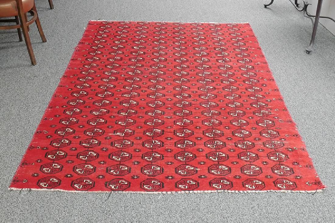 Antique Hand Knotted Bokhara Rug 80-100 Yrs Old - 2