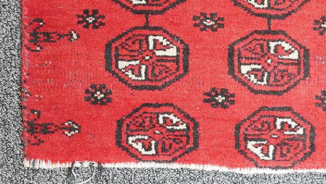 Antique Hand Knotted Bokhara Rug 80-100 Yrs Old - 3