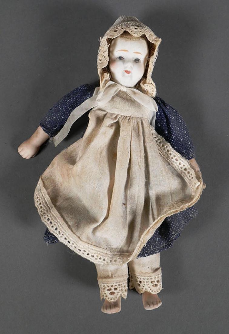 """Antique Bisque Head Doll 8"""""""
