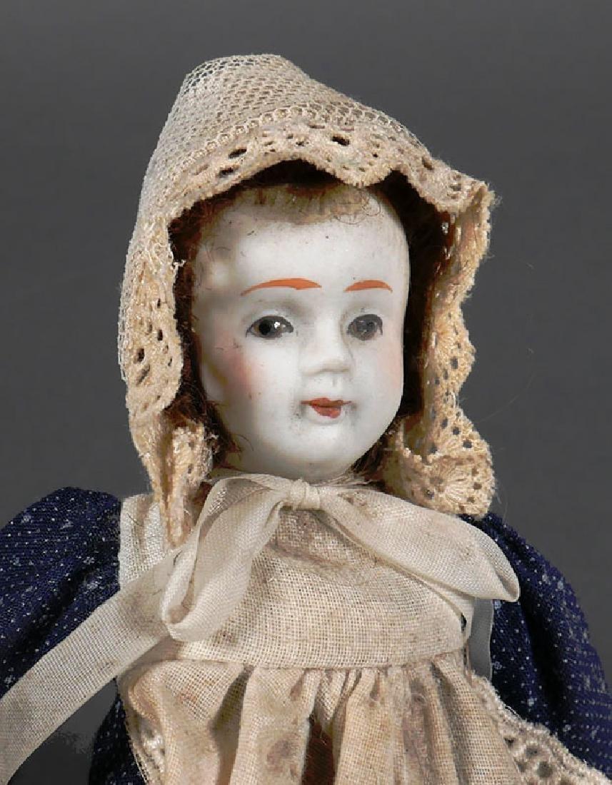 """Antique Bisque Head Doll 8"""" - 2"""