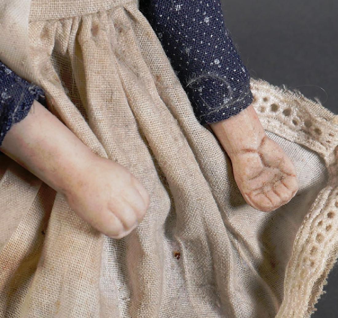 """Antique Bisque Head Doll 8"""" - 4"""
