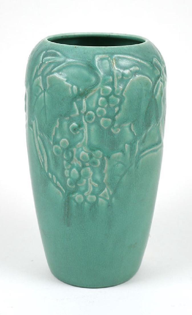 Vintage Rookwood Pottery Vase Grape Vine Motif - 2