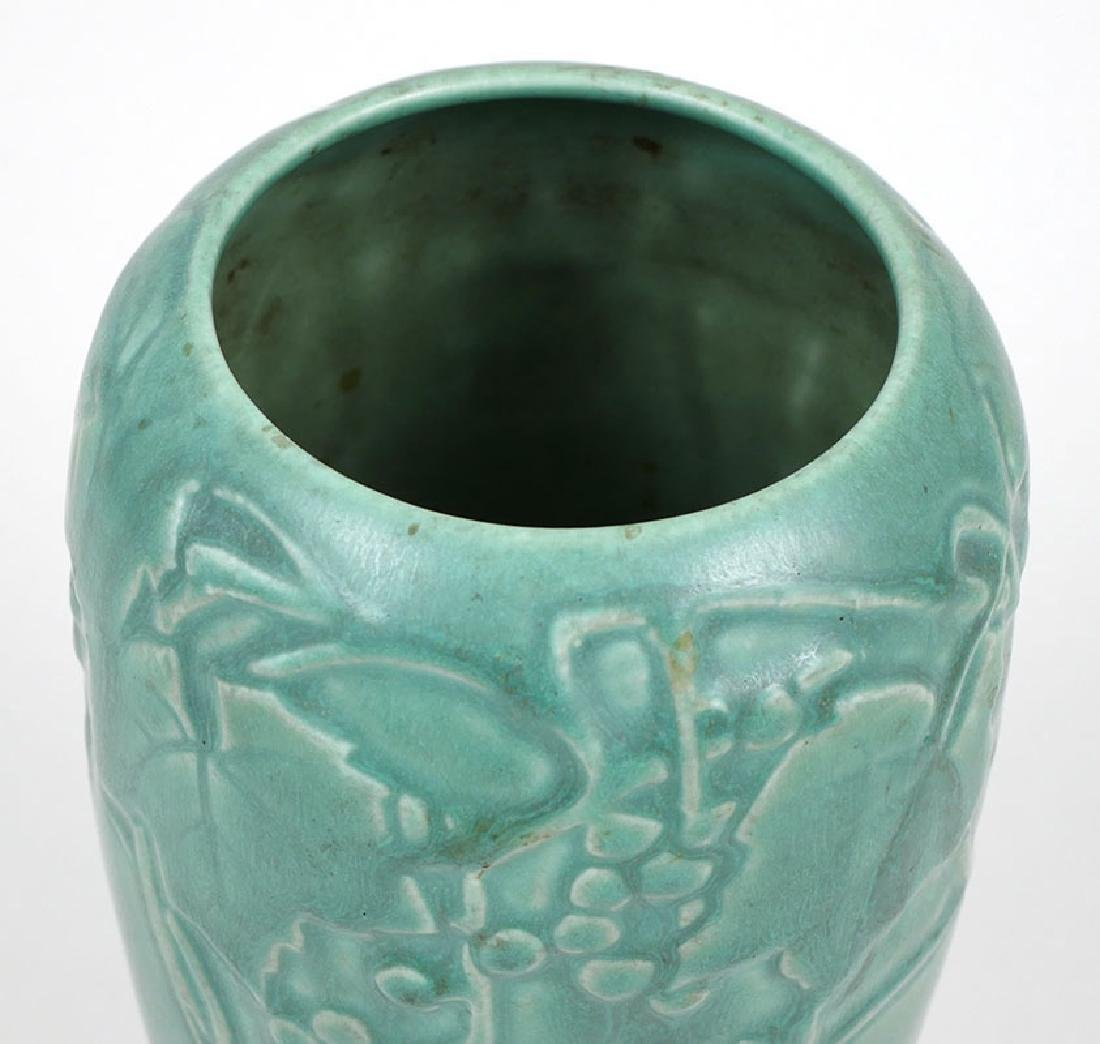 Vintage Rookwood Pottery Vase Grape Vine Motif - 3