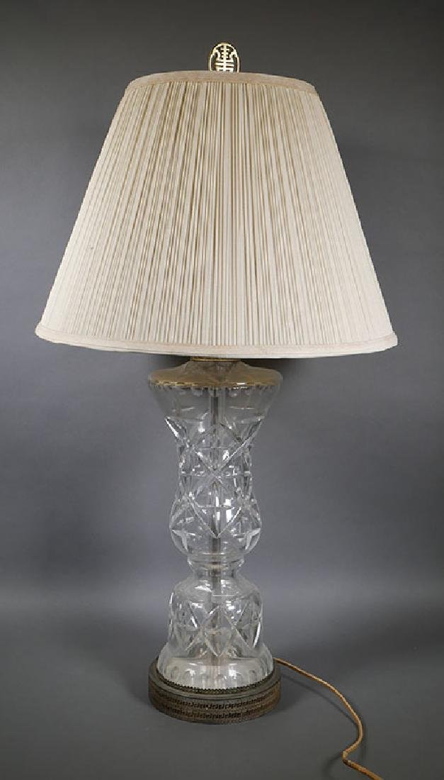 Large Waterford Crystal Table Lamp