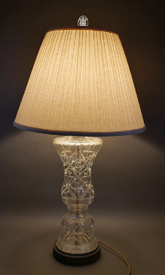 Large Waterford Crystal Table Lamp - 2