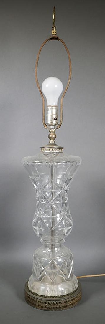 Large Waterford Crystal Table Lamp - 3