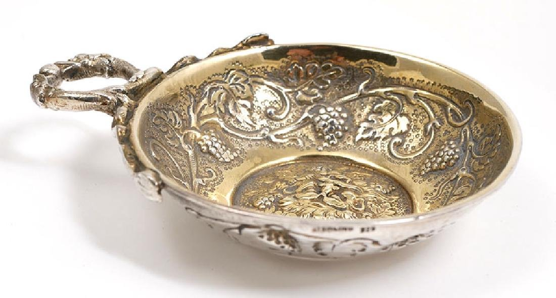 Ornate Repousse Sterling Silver Wine Tastevin - 2