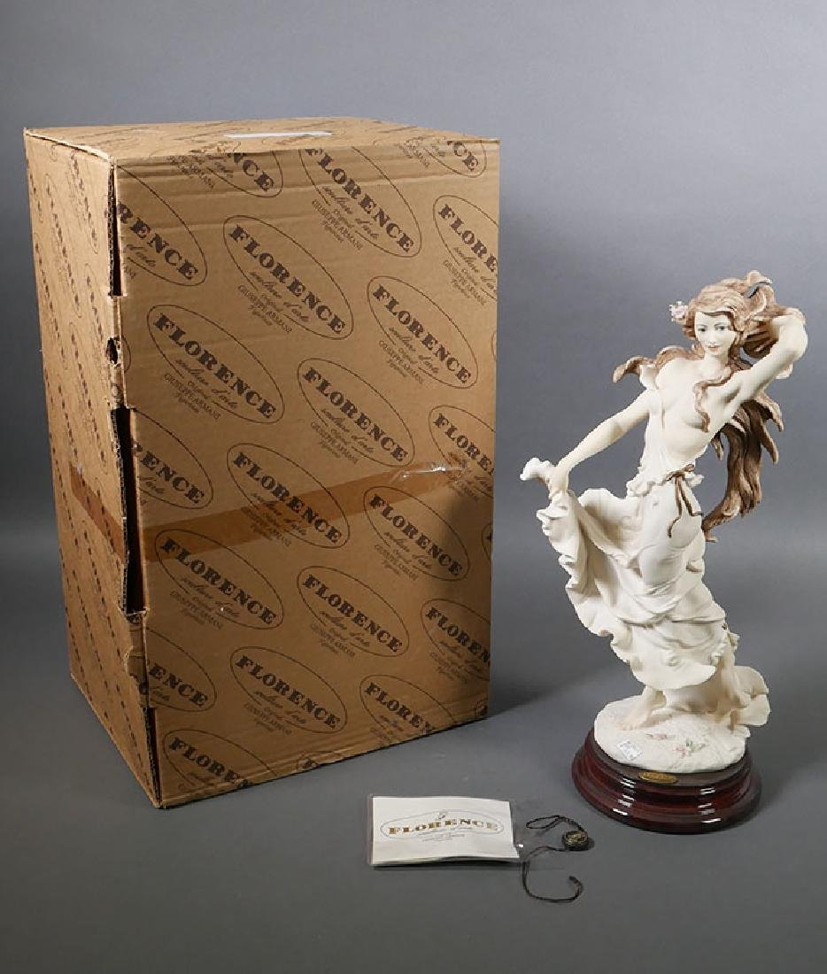 "Giuseppe Armani Sculpture ""Wisteria"" Draped Nude - 7"