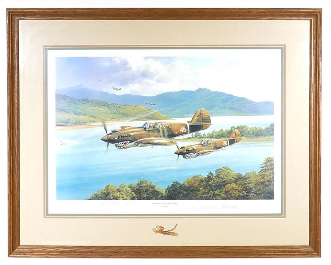Robert Taylor Flying Tigers Print signed by Pilots