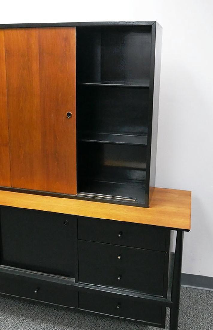 Vintage MCM Walnut Sideboard & Cabinet John Stuart - 2