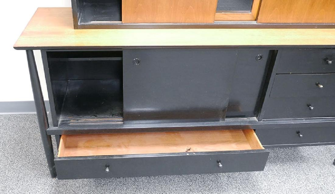 Vintage MCM Walnut Sideboard & Cabinet John Stuart - 4
