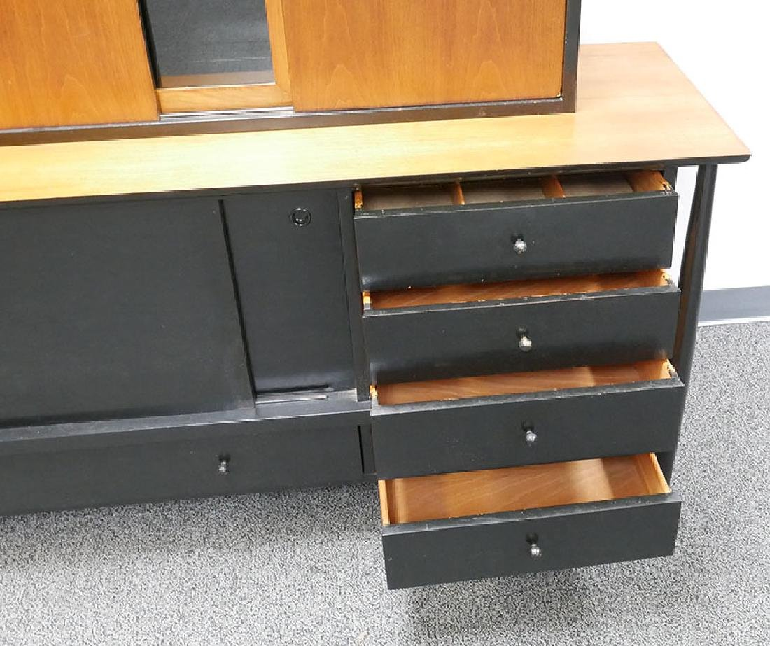 Vintage MCM Walnut Sideboard & Cabinet John Stuart - 5