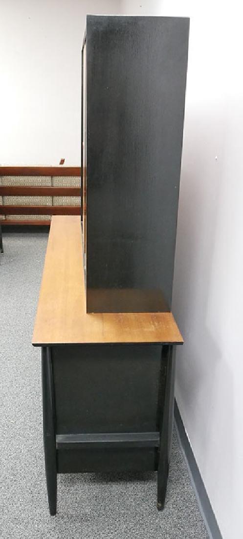 Vintage MCM Walnut Sideboard & Cabinet John Stuart - 6