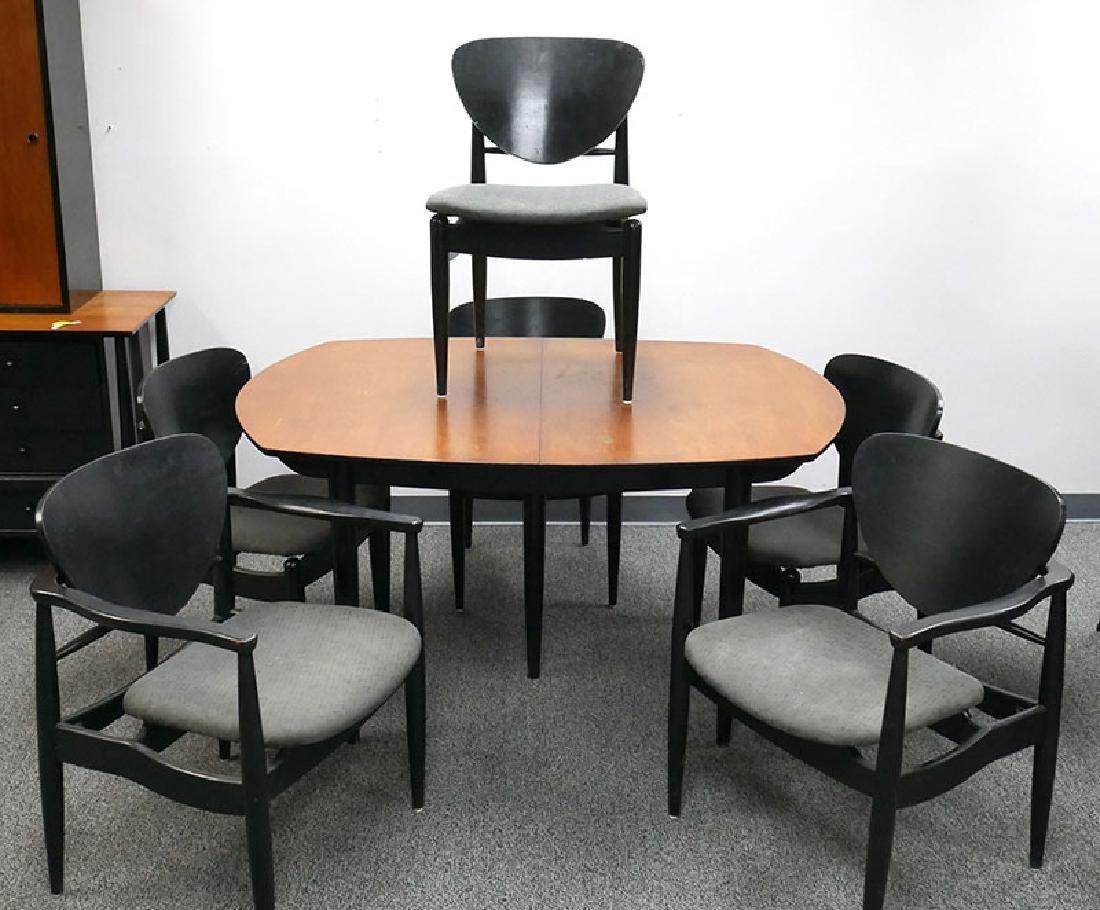 Vintage MCM Dining Table & Chairs John Stuart