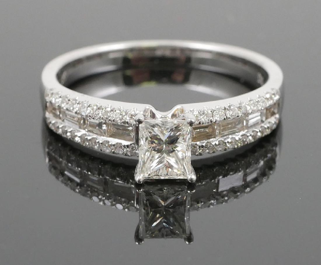 18K White Gold Ladies Diamond Unity Ring