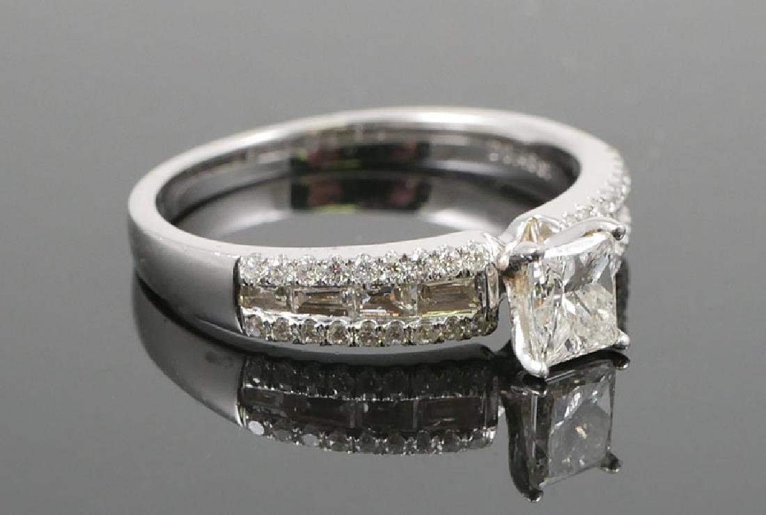 18K White Gold Ladies Diamond Unity Ring - 2
