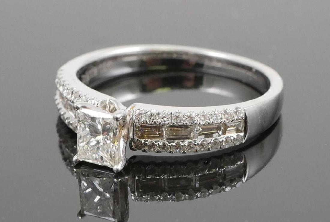 18K White Gold Ladies Diamond Unity Ring - 3