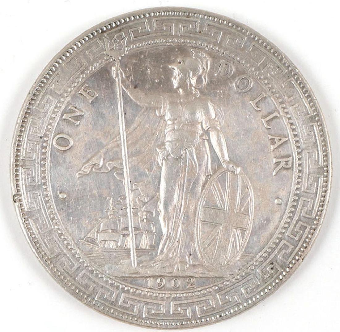 1902 Great Britain Silver Trade Dollar Bombay