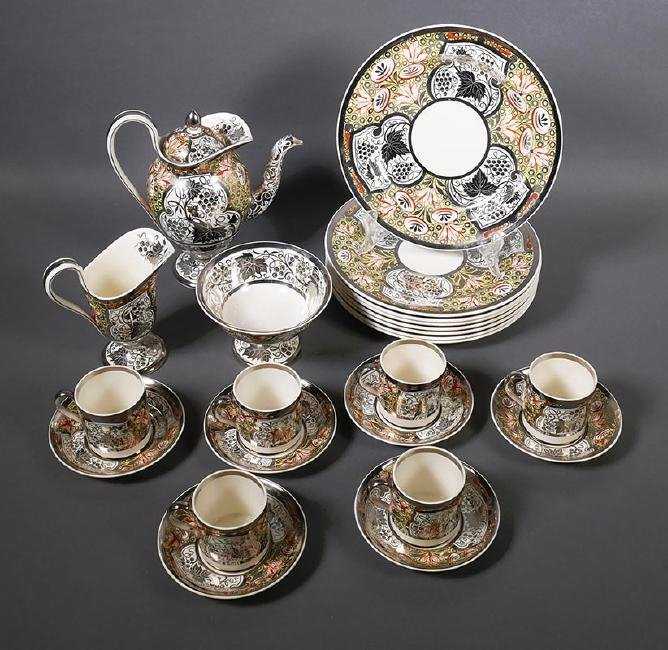 Rare Wedgwood Millicent Taplin 23-pc Luncheon Tea Set