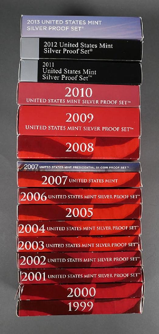 1999-2013 US Silver Proof Sets Complete Run