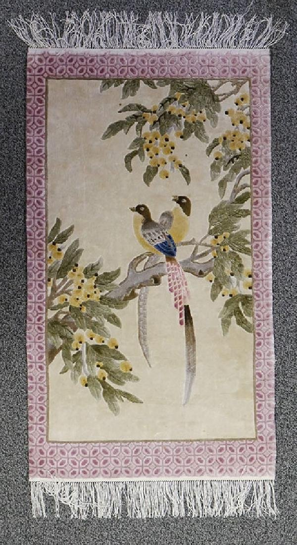 Aubusson Silk Highlights with Love Birds Rug