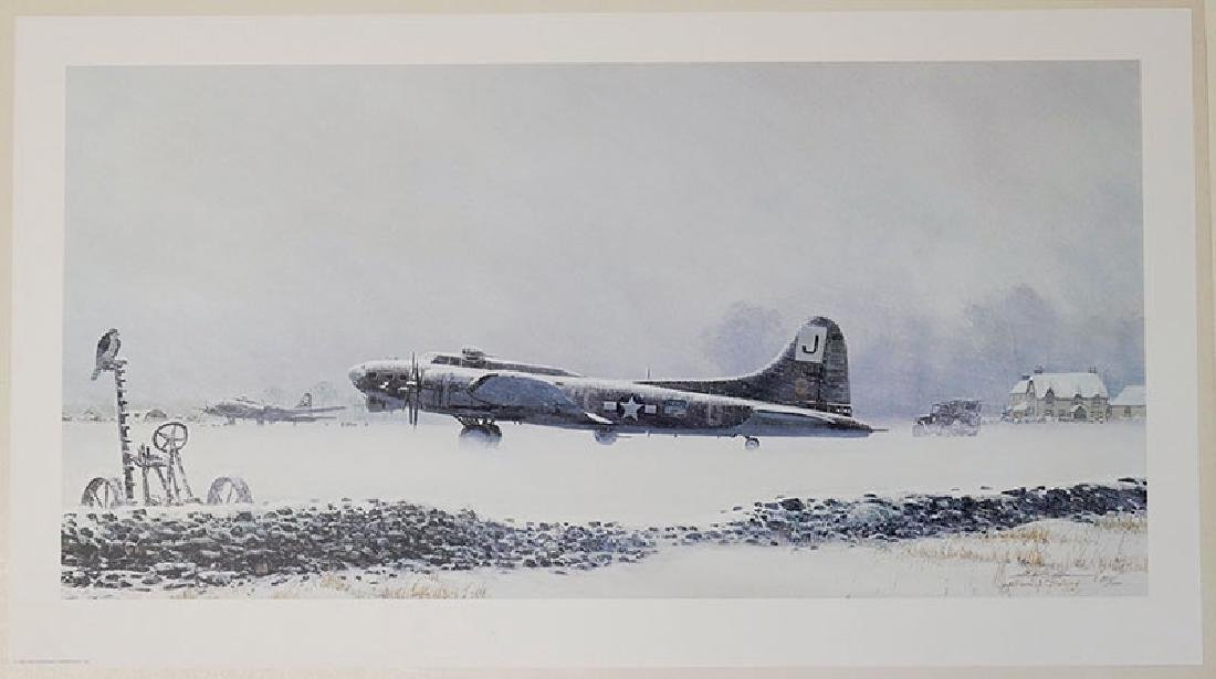 "Unframed Lithograph ""No Flying Today"" by Phillips"