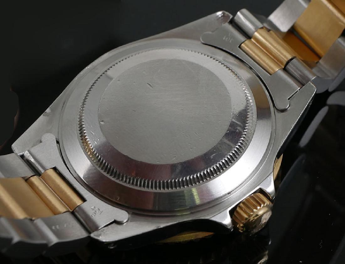 18K & Stainless Rolex Submariner Serti Diamond Dial - 7