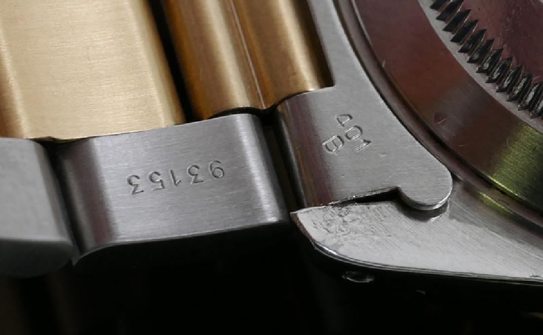 18K & Stainless Rolex Submariner Serti Diamond Dial - 8