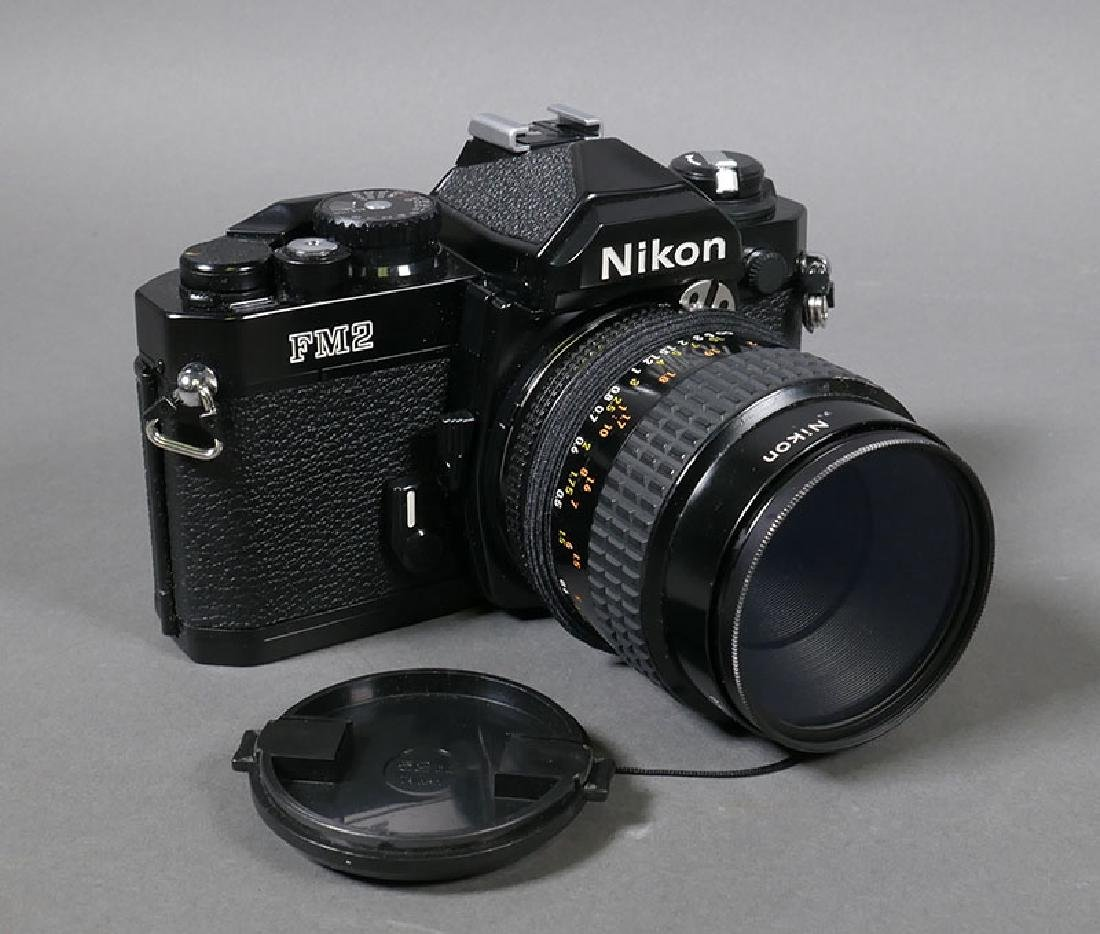 Nikon FM2 Camera with 55mm f2.8 Micro Nikkor