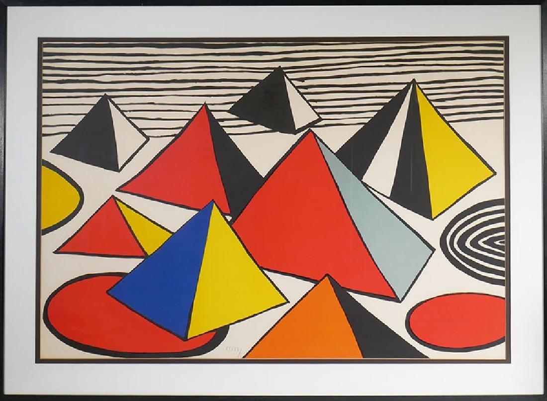Alexander Calder Pyramids Signed Litho #d to 50