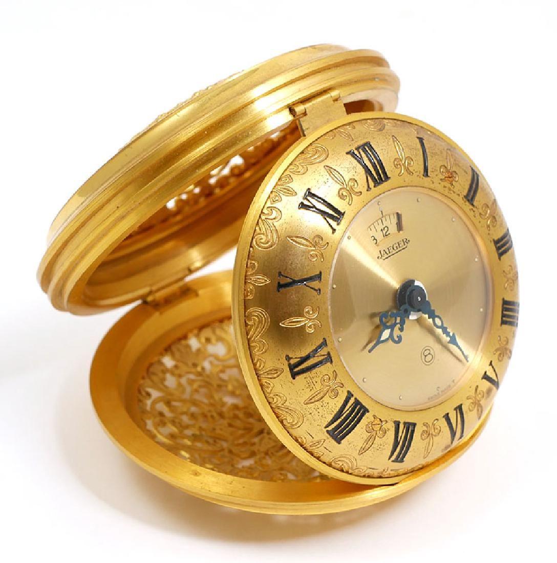 Vintage Jaeger LeCoultre Travel Alarm Clock 8 Day