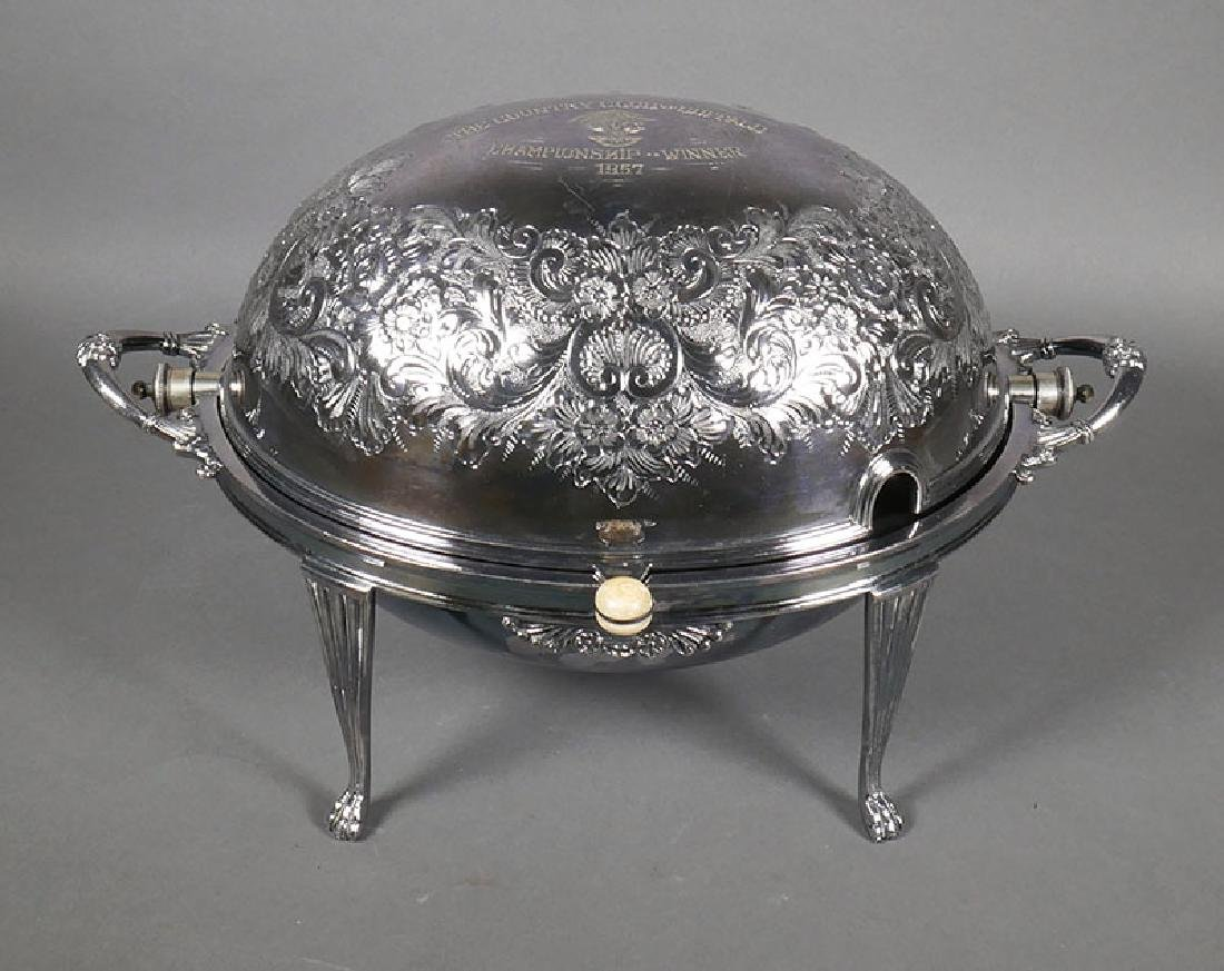 Ornate Walker & Hall Large Dome Silver Server