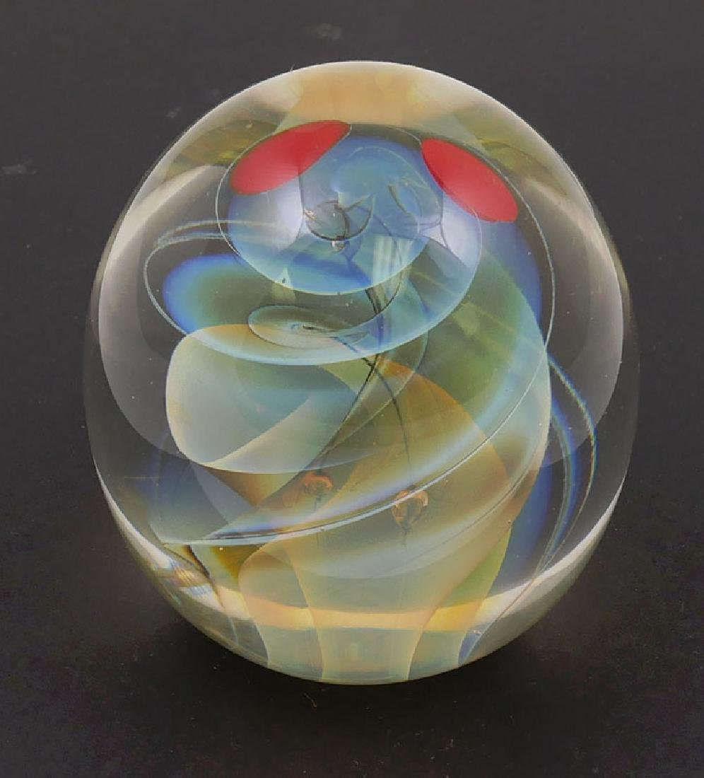 Karnig Dabanian Studio Art Glass Paperweight