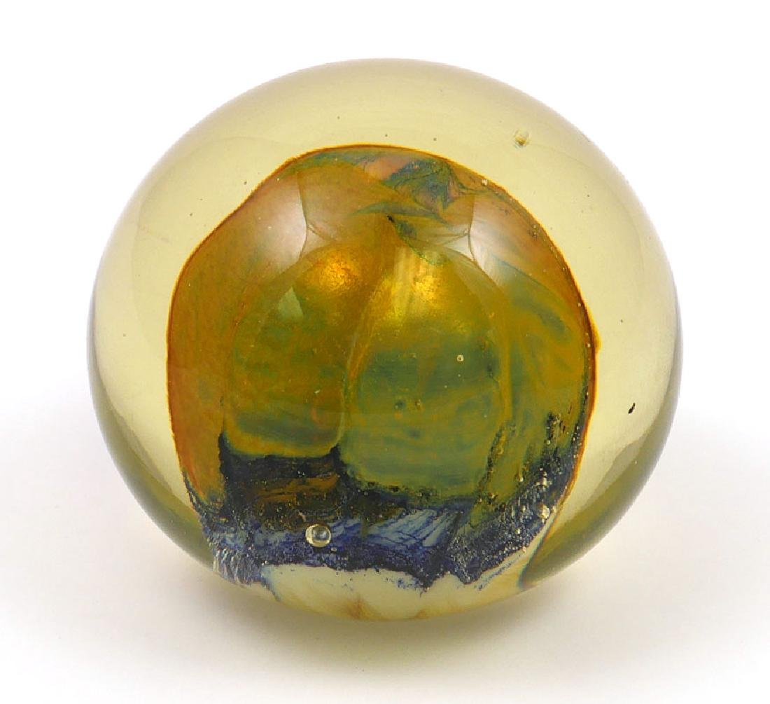Richard Ritter Blown Art Glass Paperweight