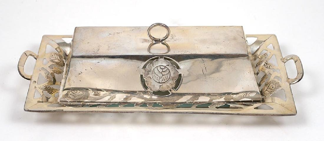 Mexican Sterling Silver Openwork Covered Butter