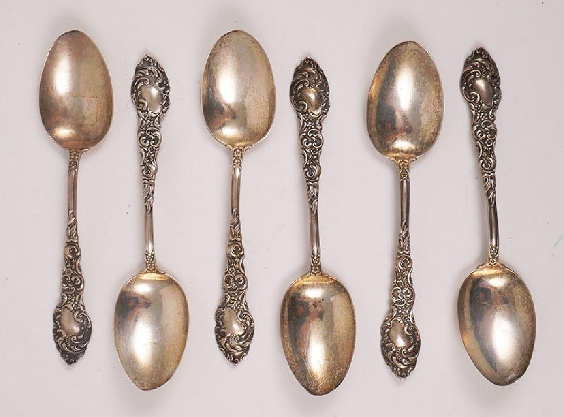 6 Unger Brothers Sterling Silver Tablespoons