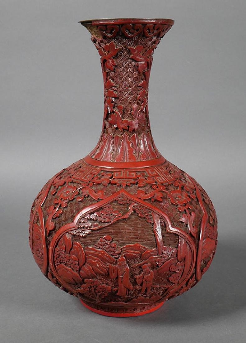 Chinese cinnabar lacquer carved vase antique chinese cinnabar lacquer carved vase reviewsmspy