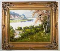 Laszlo Neogrady Serene Landscape Oil on Canvas