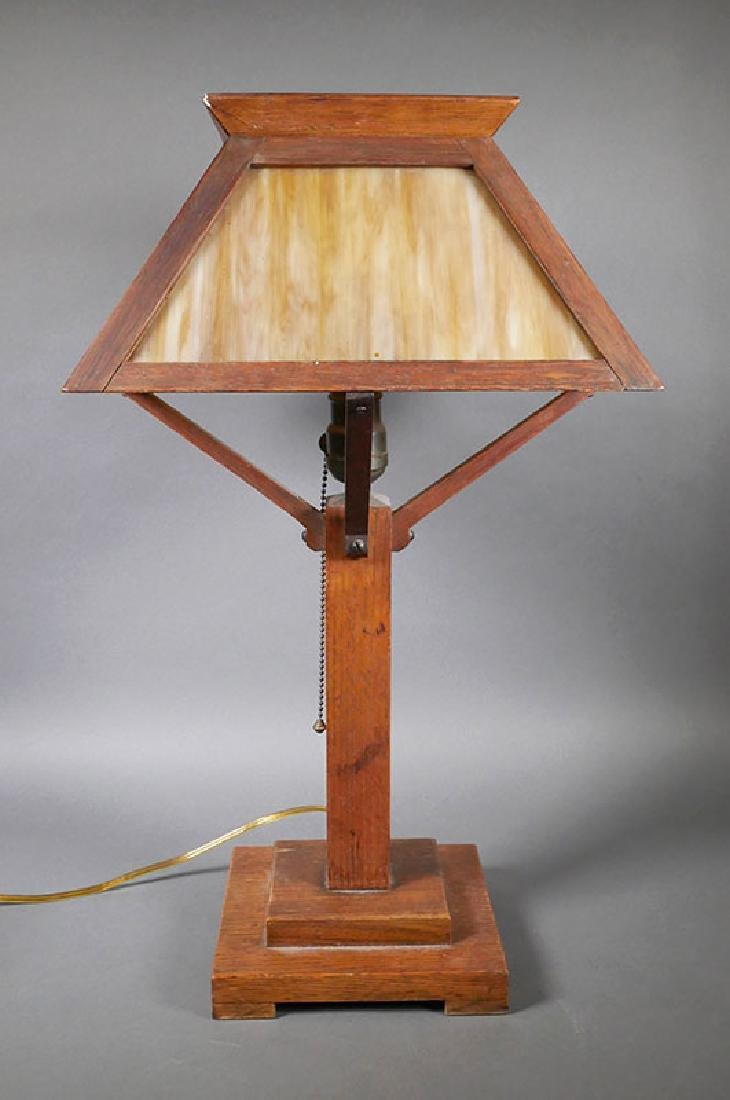 Mission Prairie School Arts and Crafts Table Lamp