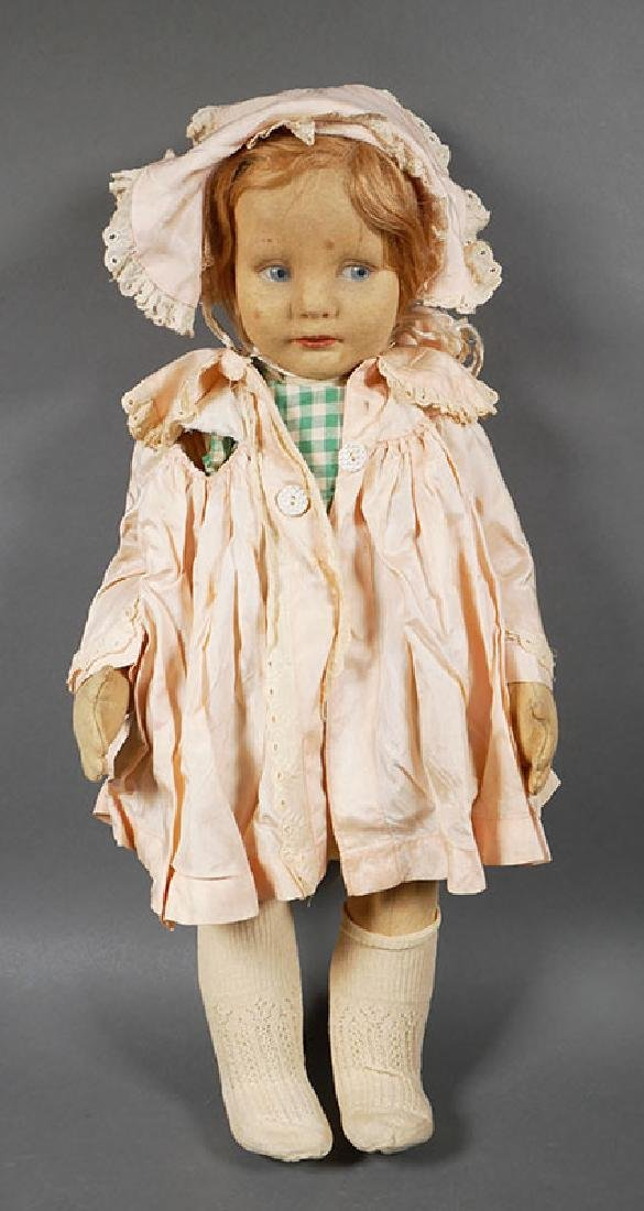 Vintage Lenci Felt Doll with Bonnet 20""
