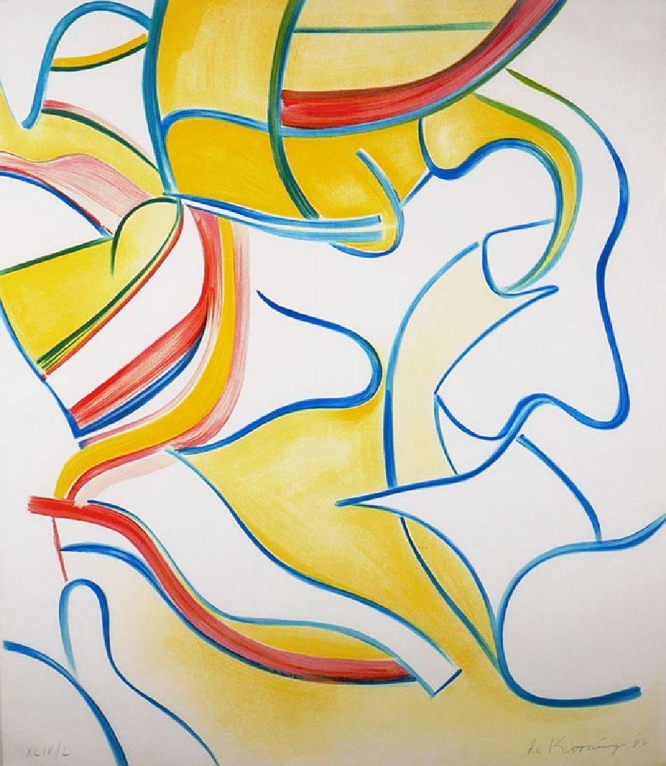 Willem De Kooning Untitled #2, Quatre Lithographies