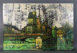 Enzo Linca Modernist Cityscape Painting