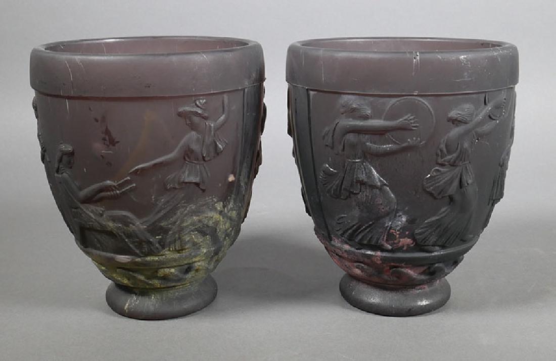Pair georges de feure nouveau art glass vases rare pair georges de feure nouveau art glass vases reviewsmspy