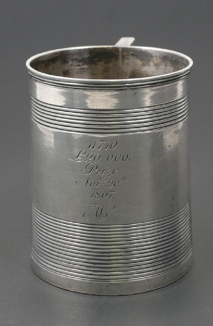 Georgian Sterling Silver Cup 1807 Lottery Winner
